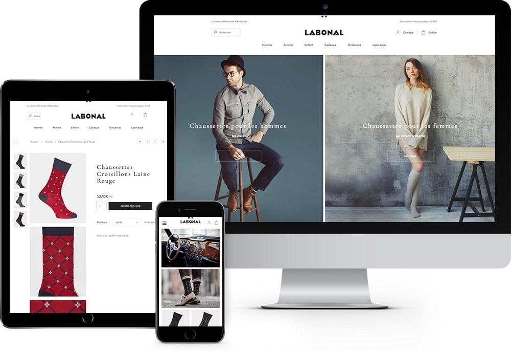 labonal site internet ecommerce responsive design