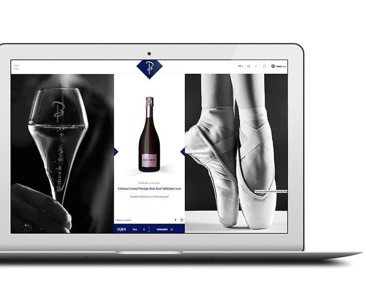 page produit ecommerce vin