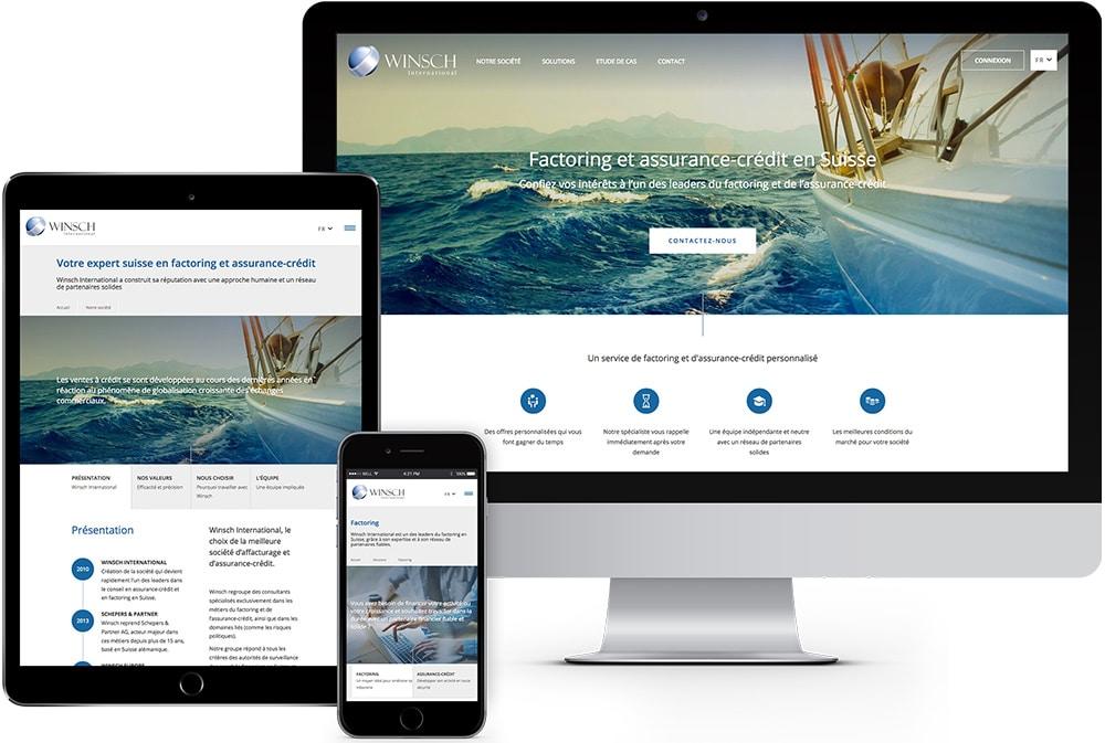 Winsch factoring suisse site internet lausanne